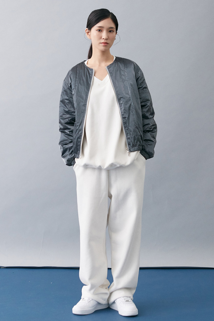 NOI174 [nappijng] long wide sweatpants (white)