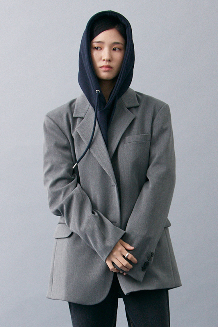 NOI200 overfit single jacket (gray)