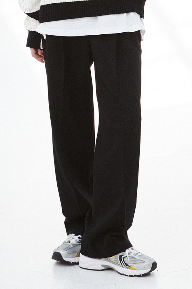 NOI272 pintuck wide slacks (black)