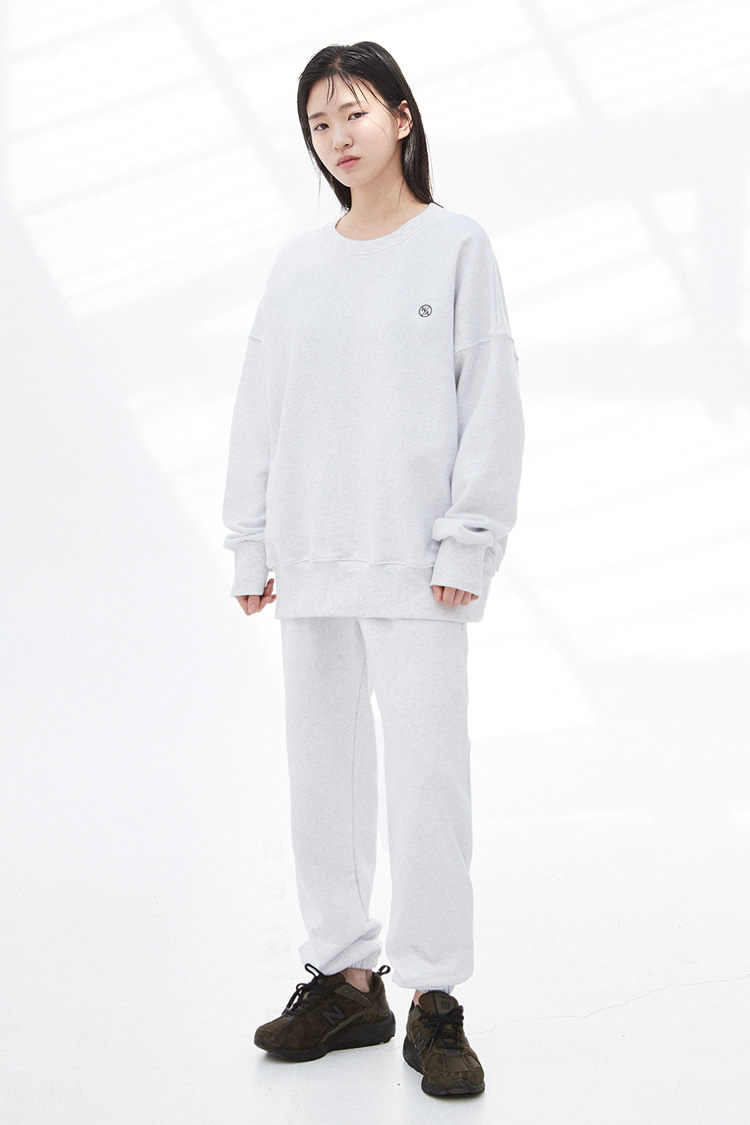 [SET]NOI307 essential sweat set (ivory)