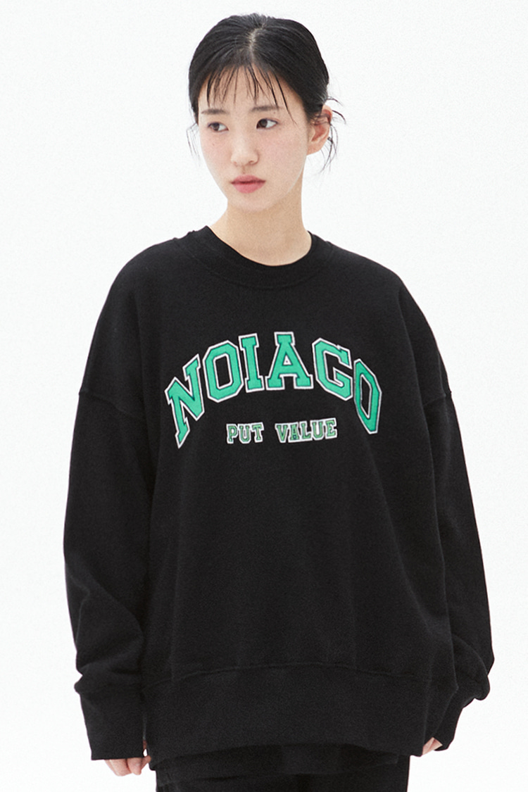 NOI280 applique logo sweatshirts (navy)