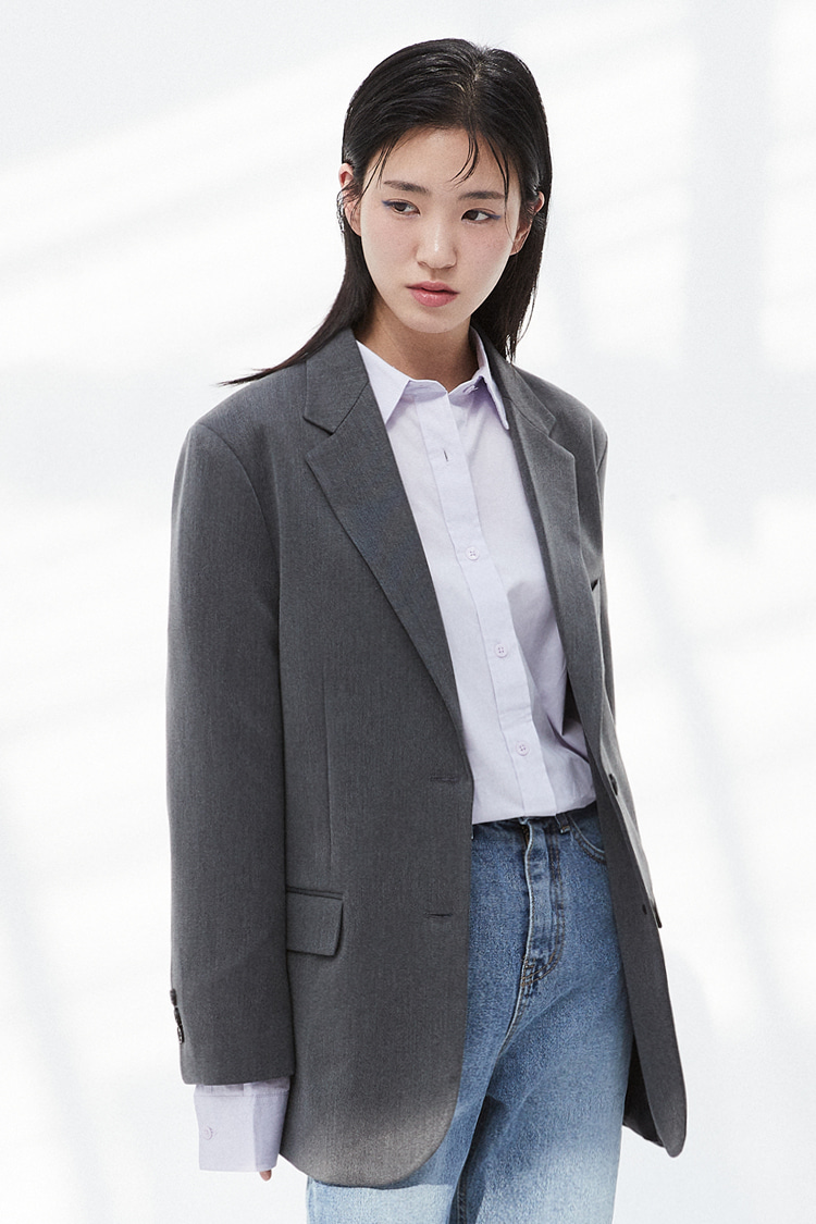 NOI304 2button single jacket (gray)
