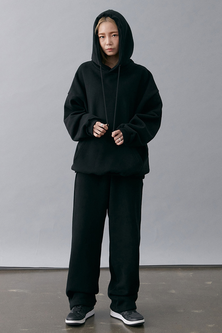 NOI176 [nappijng] long wide sweatpants (black)