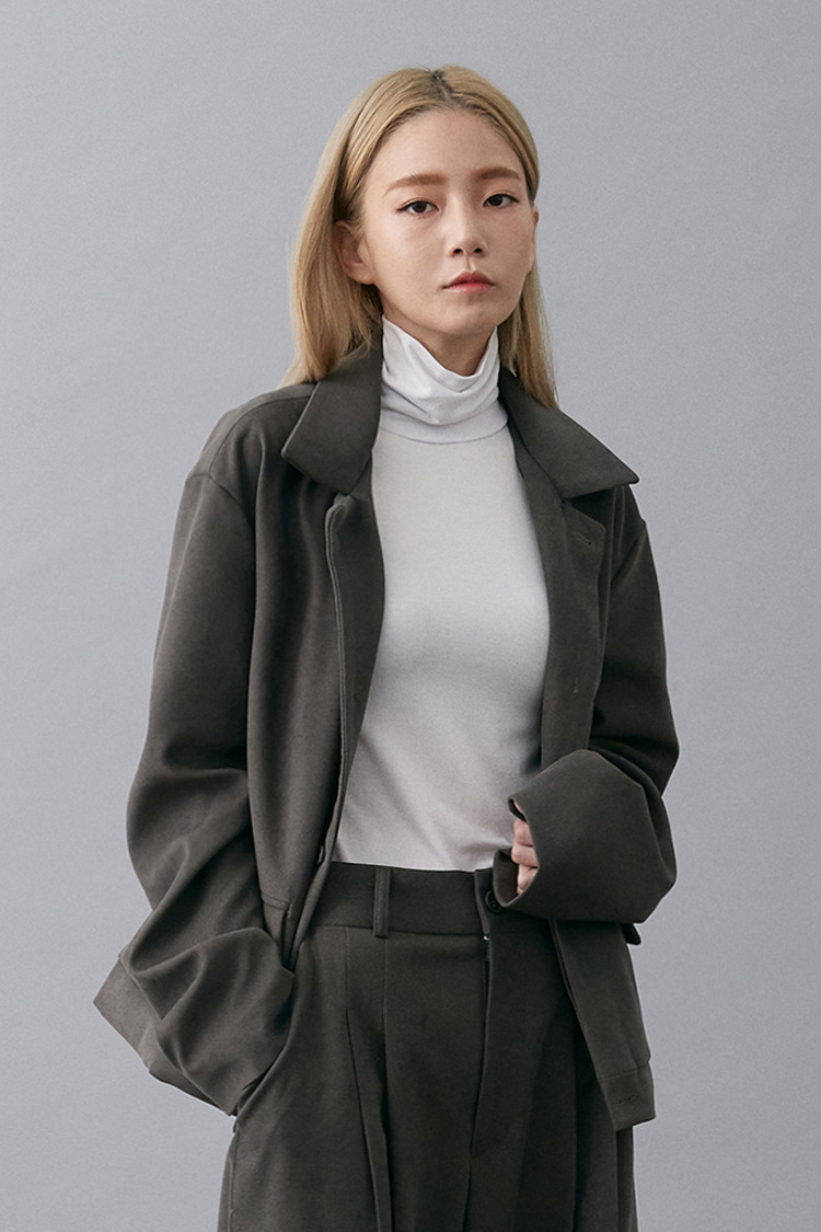 NOI199 corduroy crop jacket (gray)