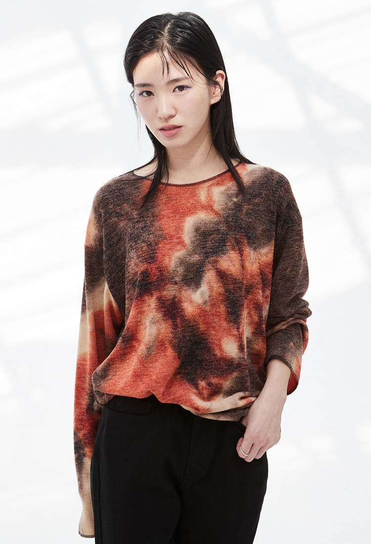 NOI323 tiedye longsleeve (orange)