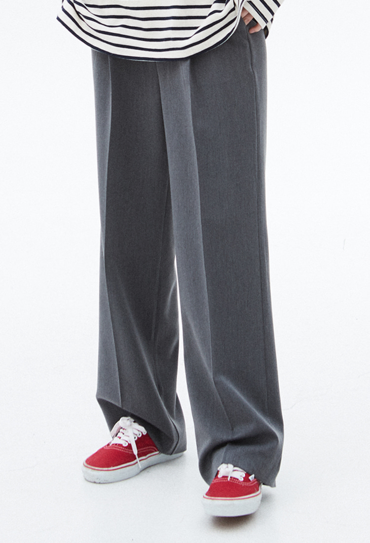 NOI315 comfort wide slacks (gray)