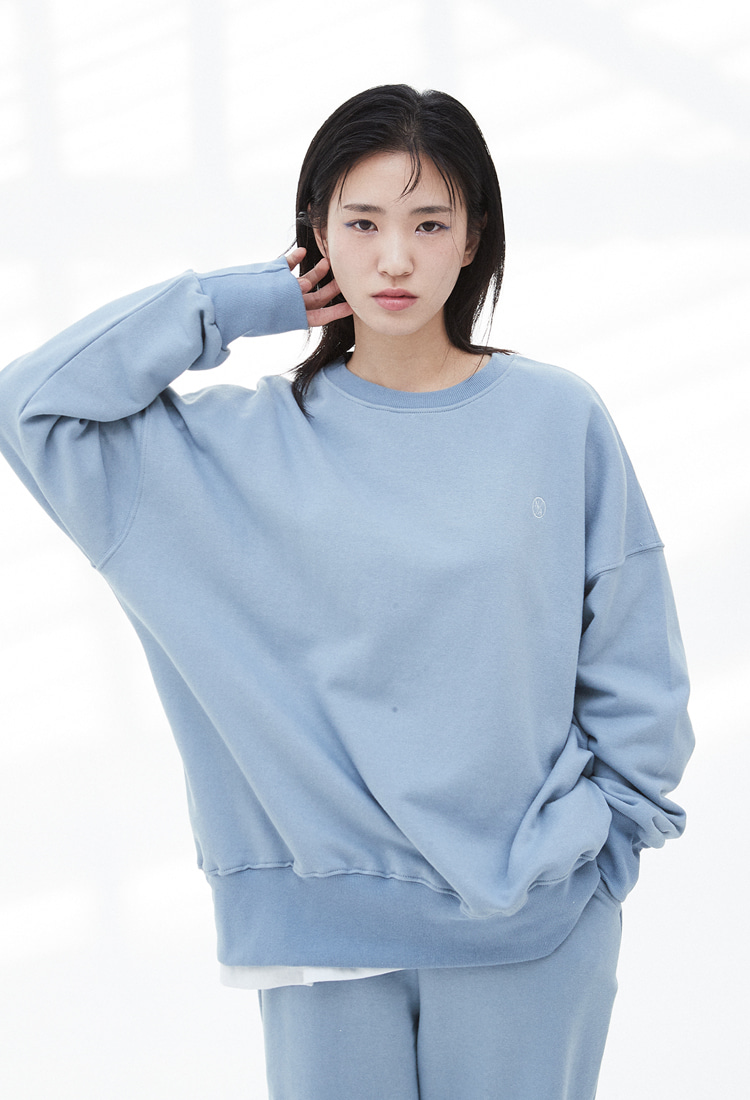 NOI328 essential logo sweatshirts (skyblue)