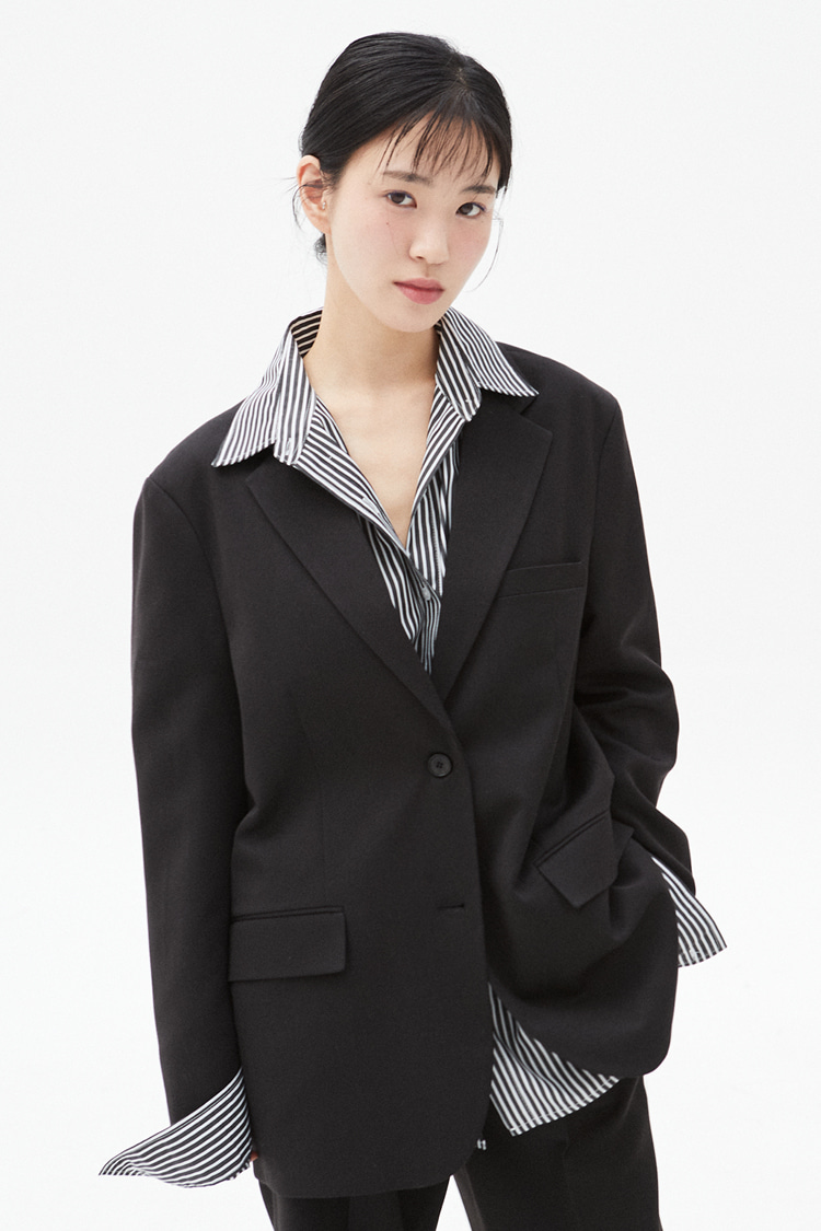 NOI305 2button single jacket (black)